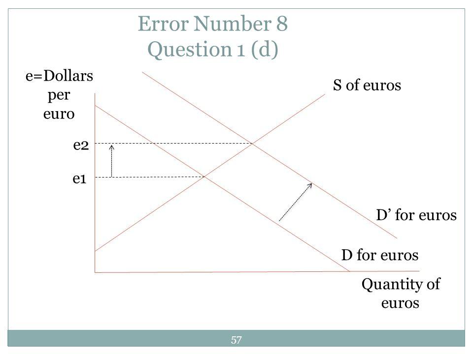 Error Number 8 Question 1 (d)