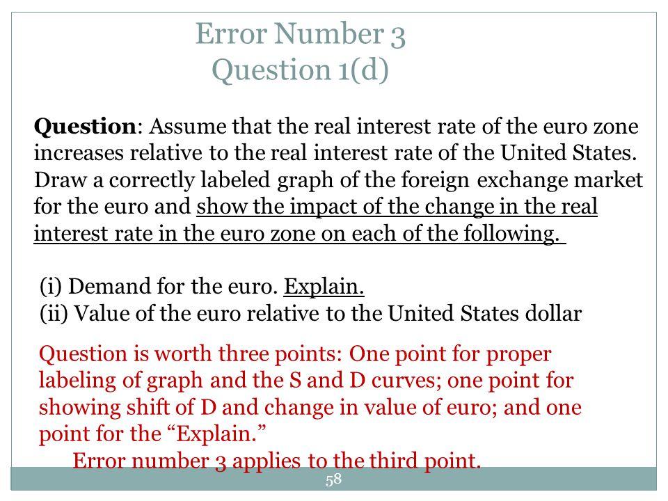 Error Number 3 Question 1(d)