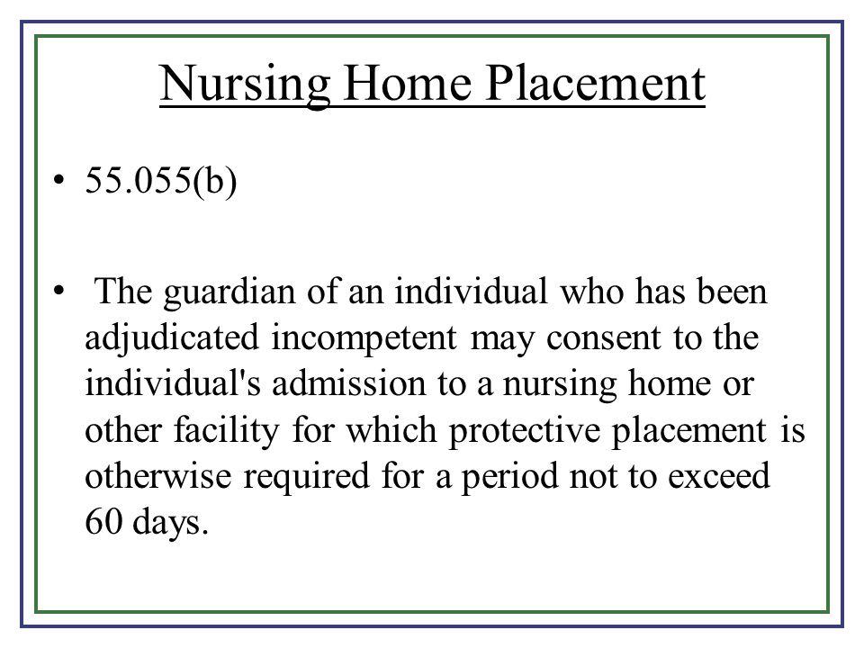 Nursing Home Placement