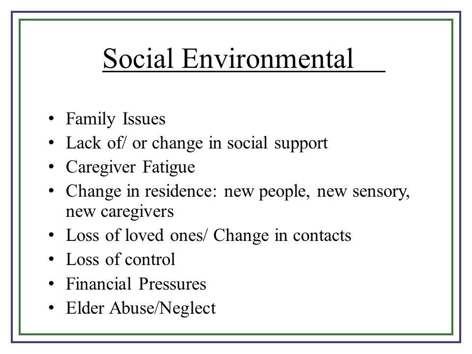 Social Environmental Family Issues