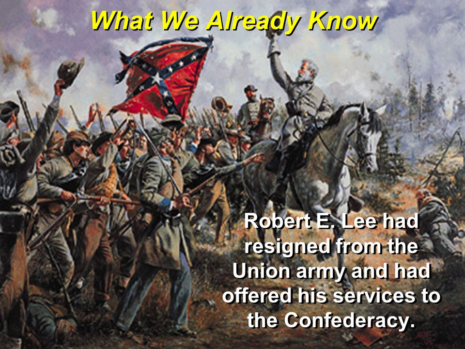 What We Already Know Robert E.