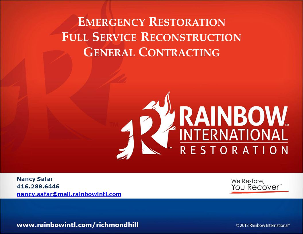 Emergency Restoration Full Service Reconstruction General Contracting