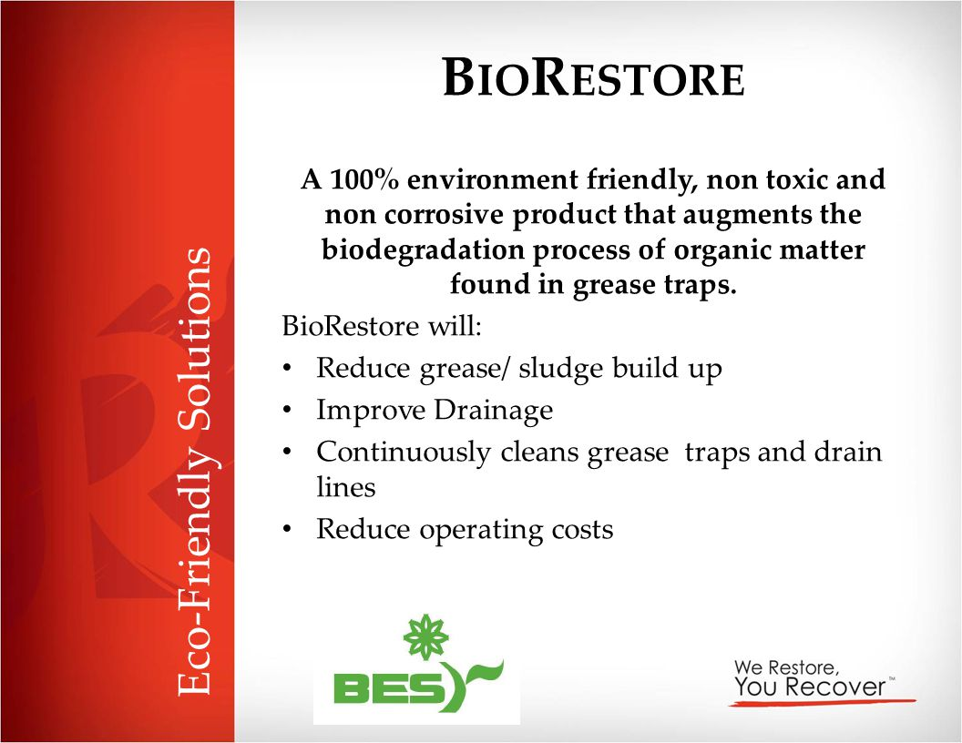 BioRestore Eco-Friendly Solutions