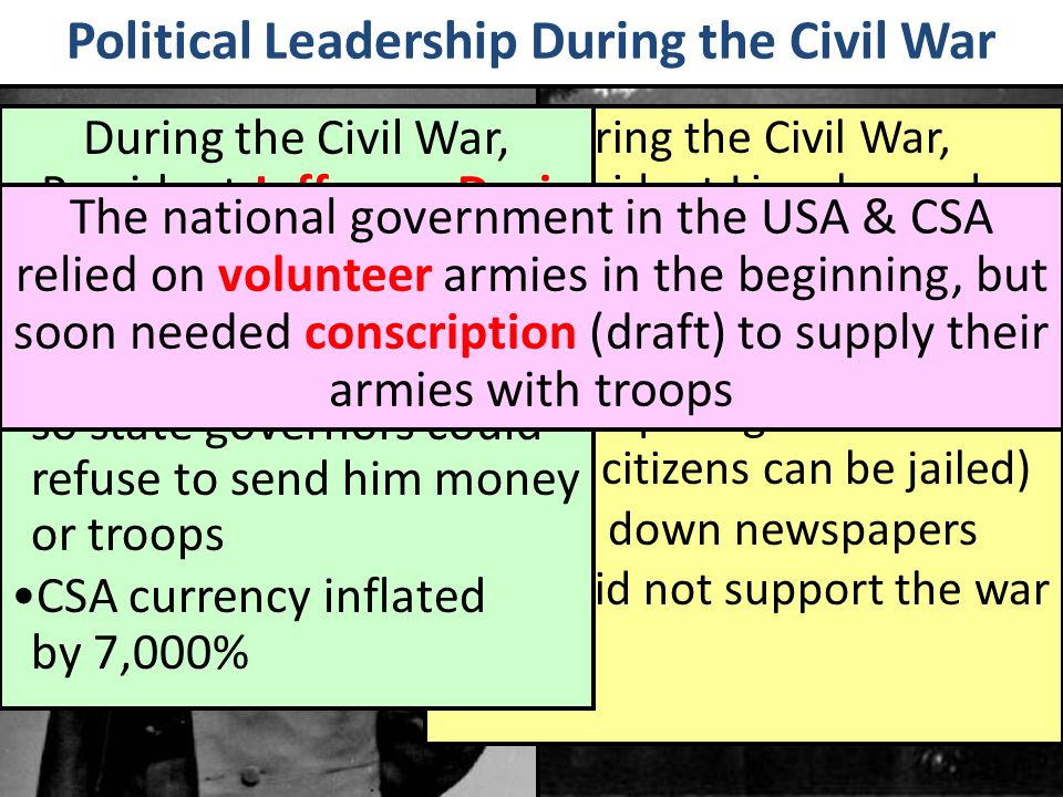 Political Leadership During the Civil War