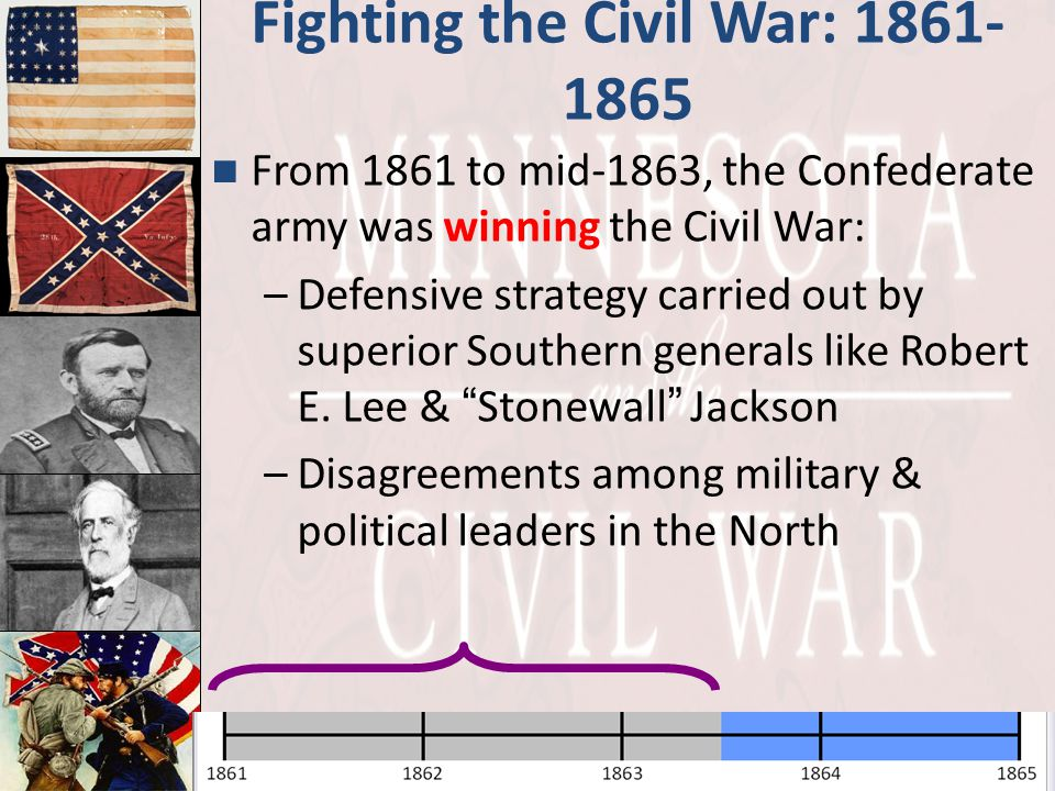 Fighting the Civil War: 1861-1865