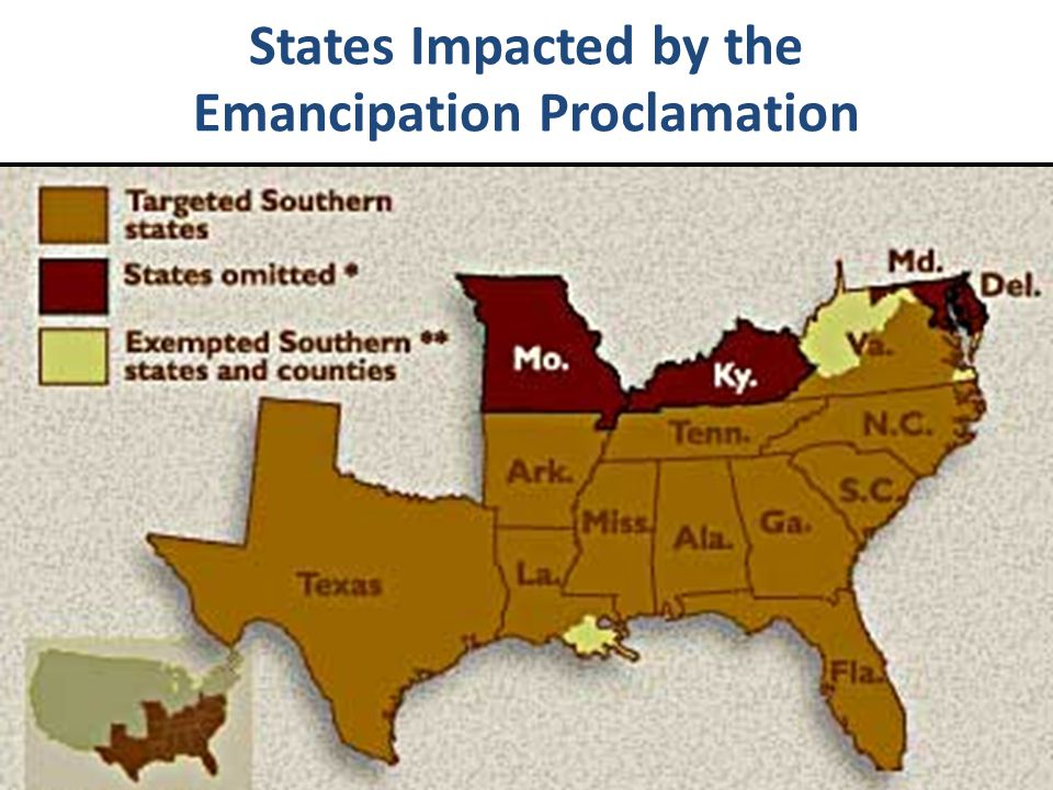 States Impacted by the Emancipation Proclamation