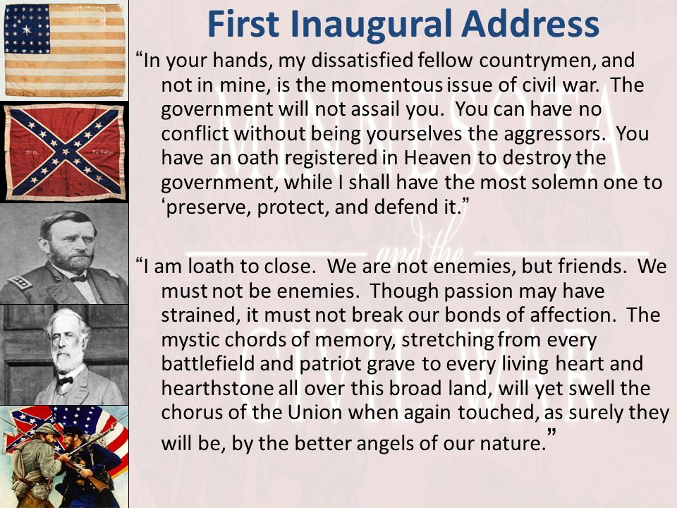 First Inaugural Address
