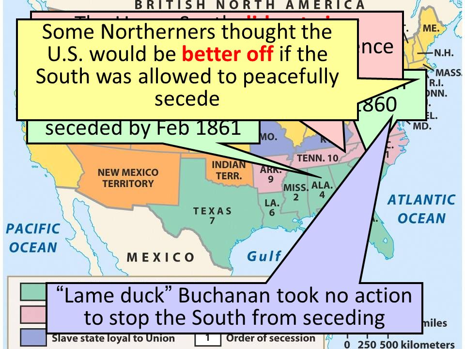 The entire Deep South seceded by Feb 1861