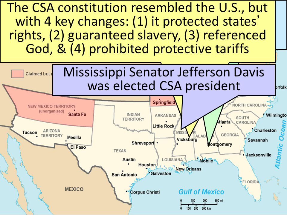 Secession & the Formation of the Confederate States of America