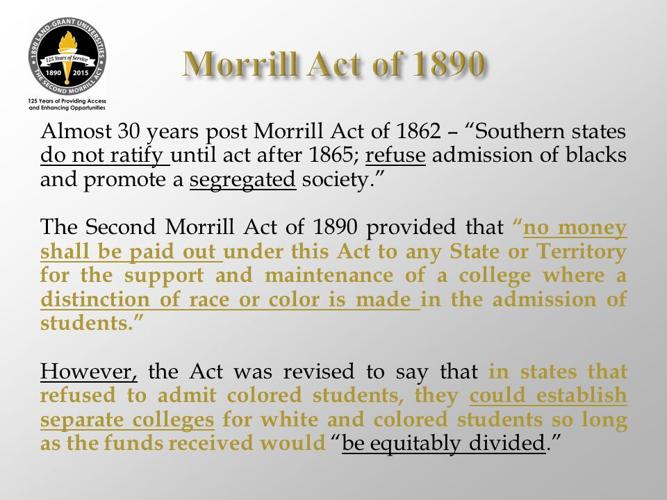 Morrill Act of 1890