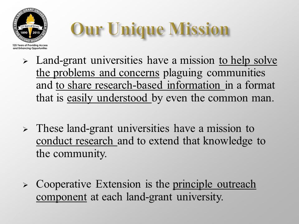 Our Unique Mission