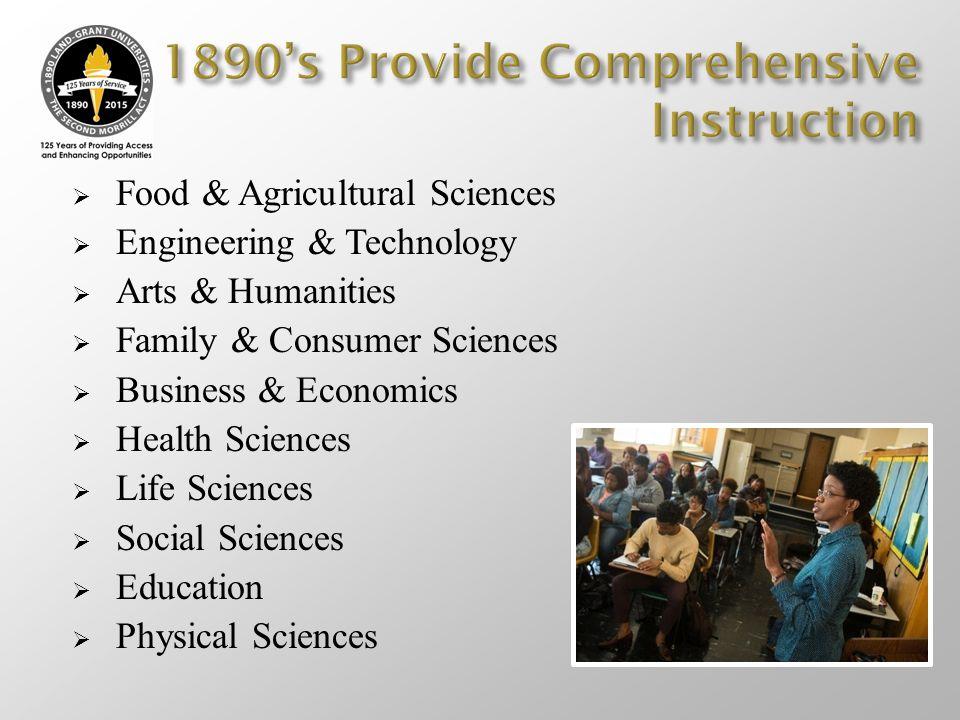 1890's Provide Comprehensive Instruction