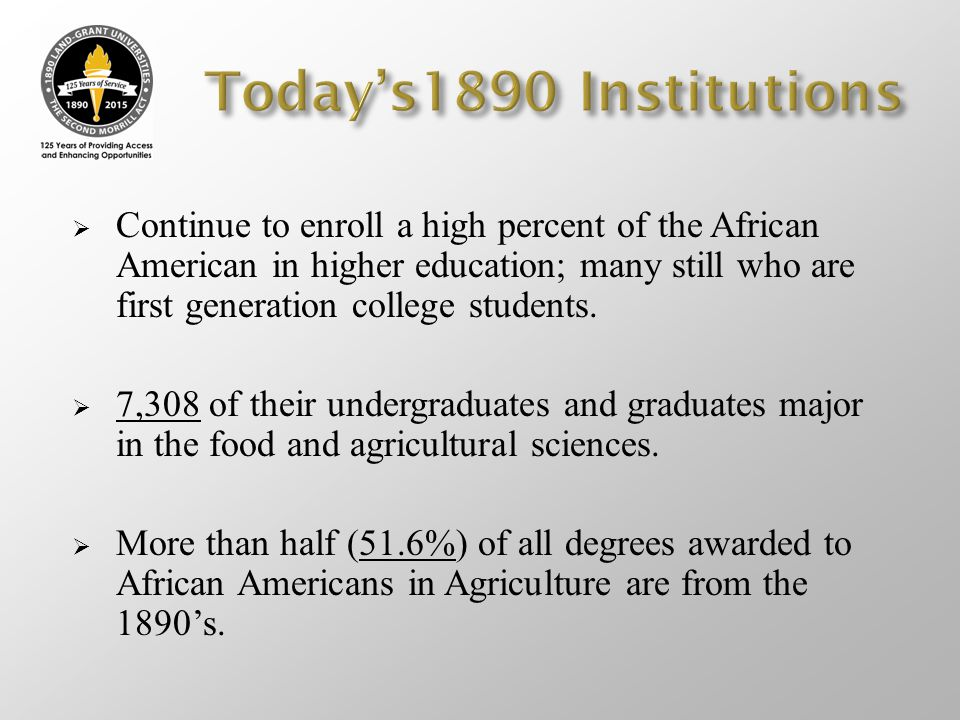 Today's1890 Institutions