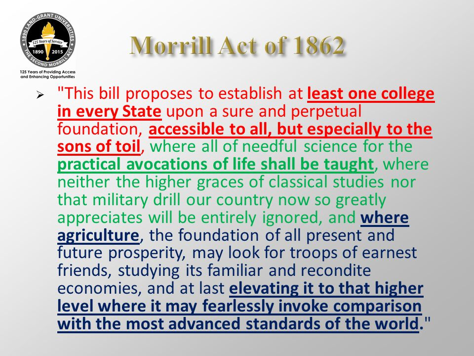 Morrill Act of 1862