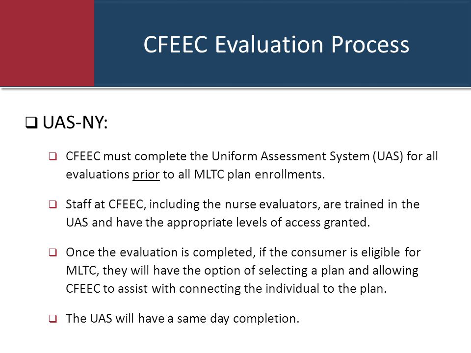 CFEEC Evaluation Process