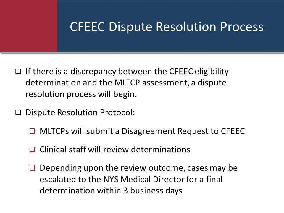 CFEEC Dispute Resolution Process