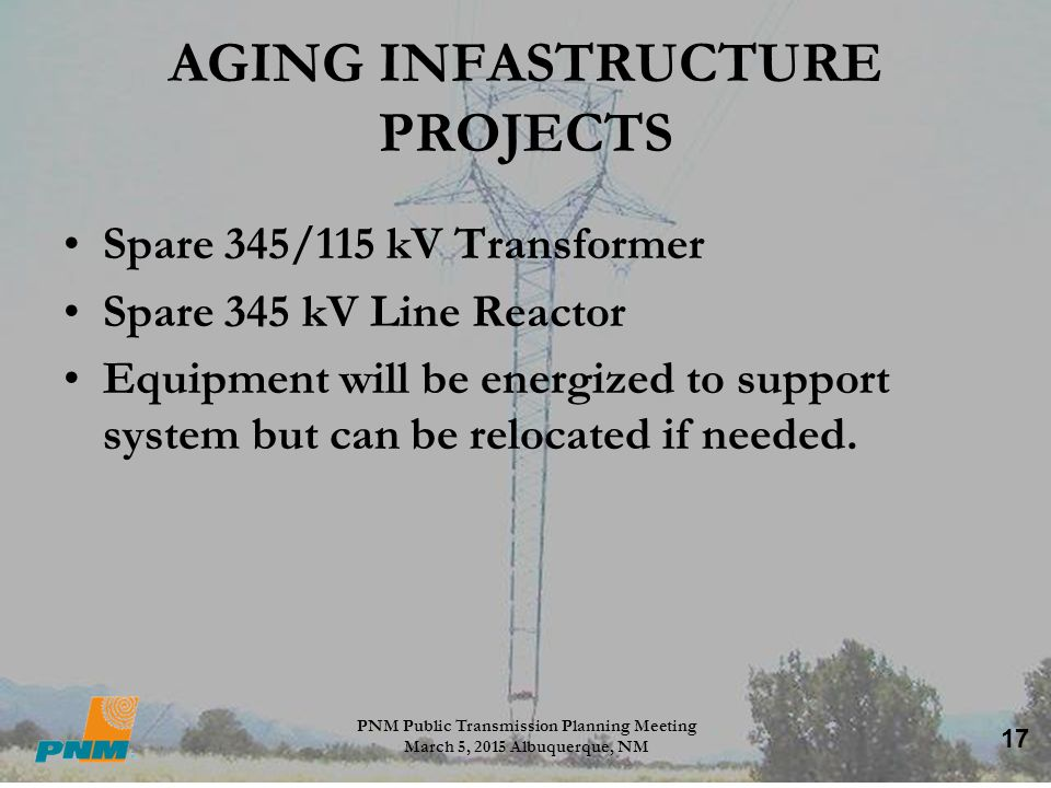 AGING INFASTRUCTURE PROJECTS