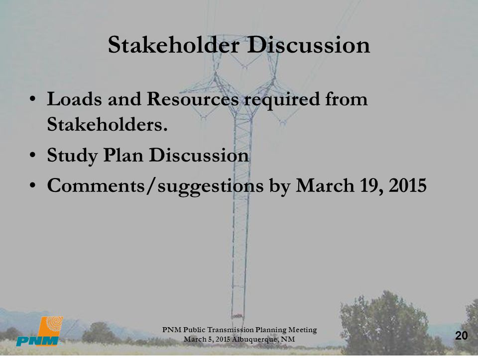 Stakeholder Discussion