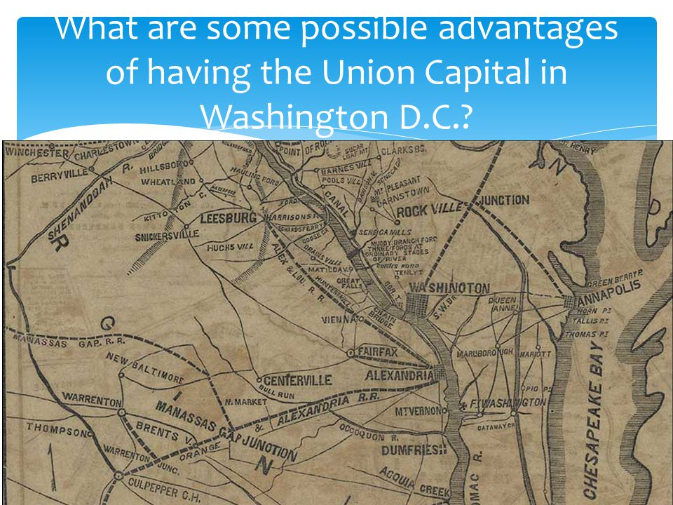 What are some possible advantages of having the Union Capital in Washington D.C.