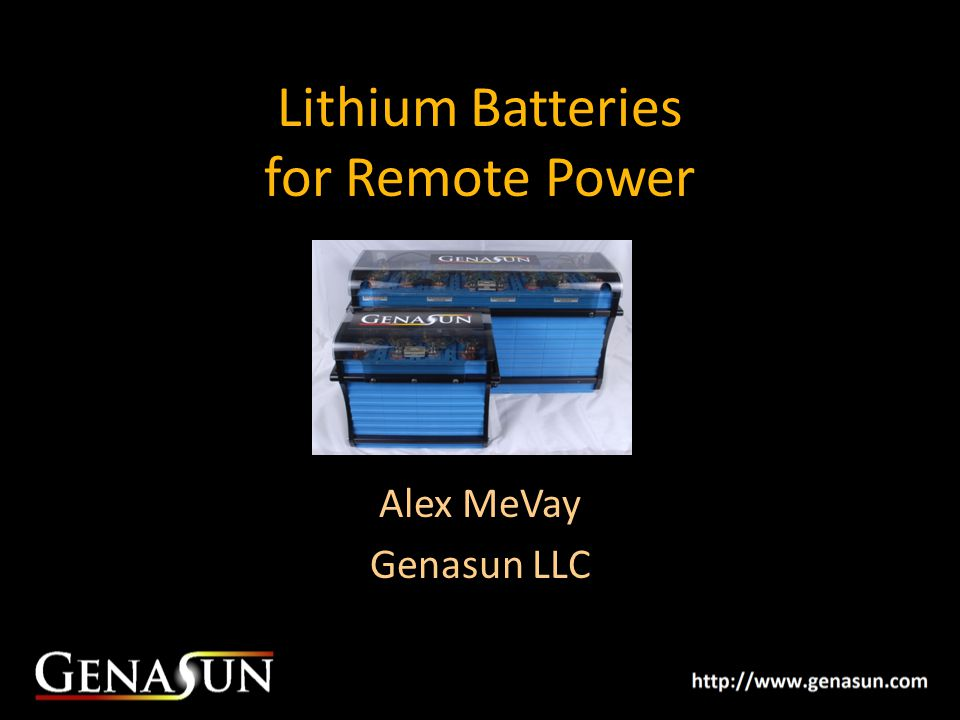 Lithium Batteries for Remote Power
