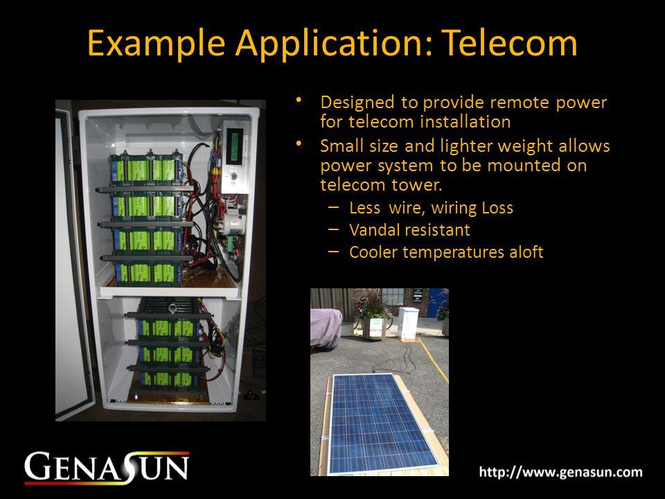 Example Application: Telecom