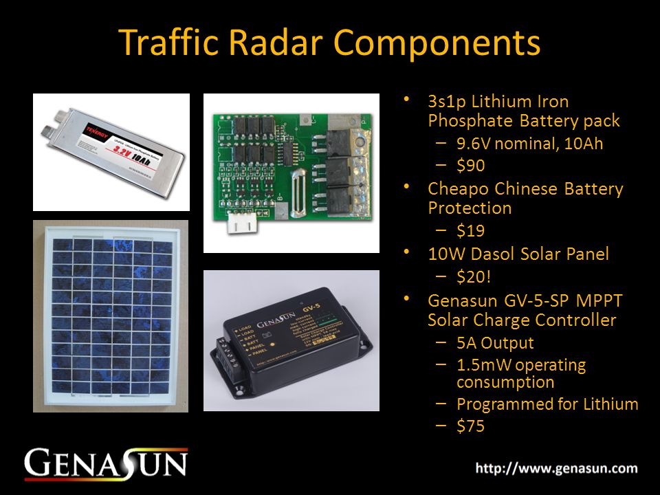 Traffic Radar Components