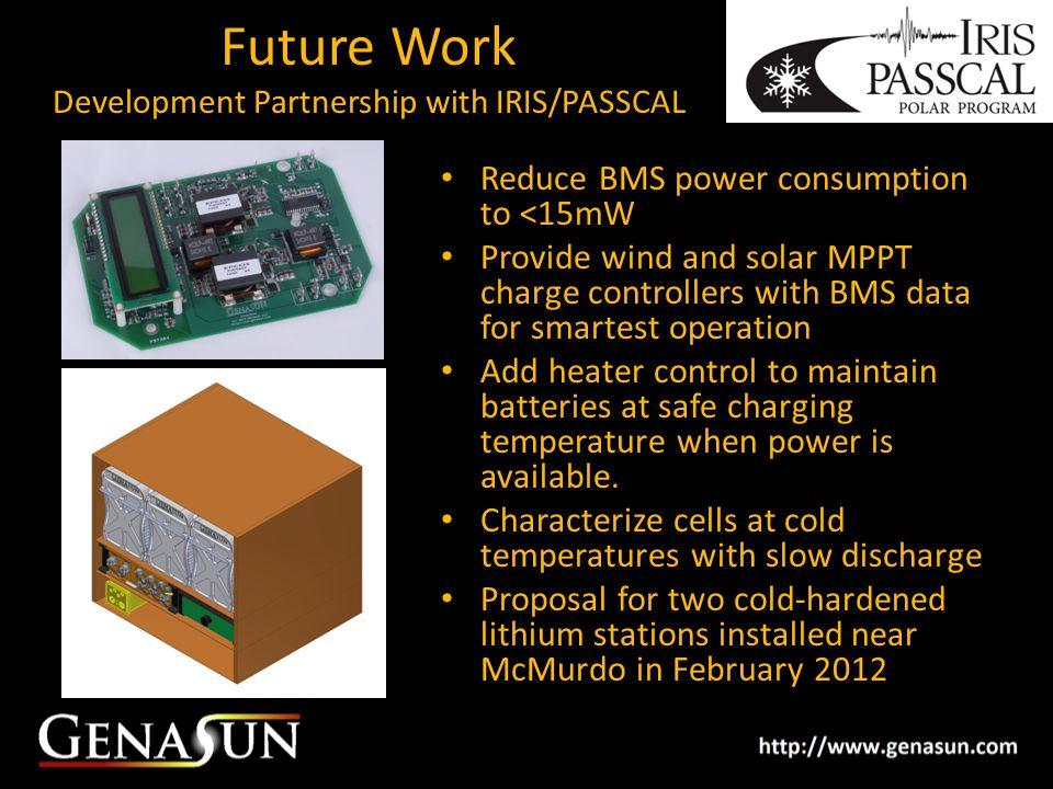 Future Work Development Partnership with IRIS/PASSCAL