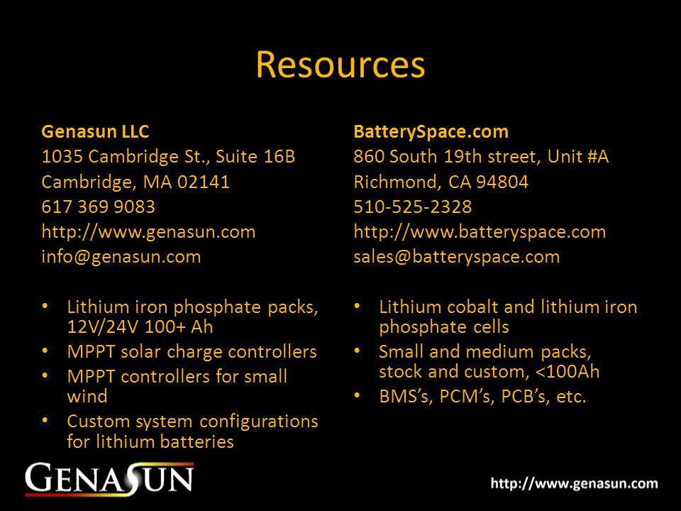 Resources Genasun LLC 1035 Cambridge St., Suite 16B