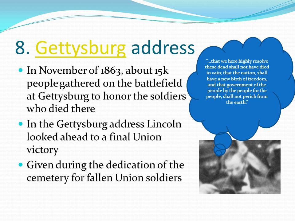 8. Gettysburg address