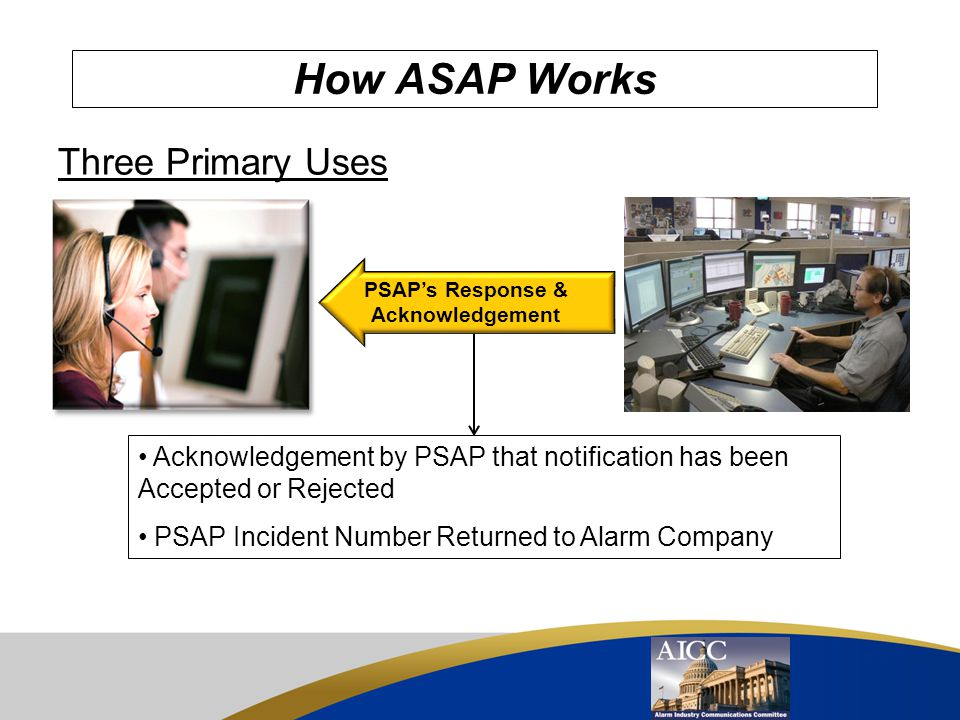 PSAP's Response & Acknowledgement