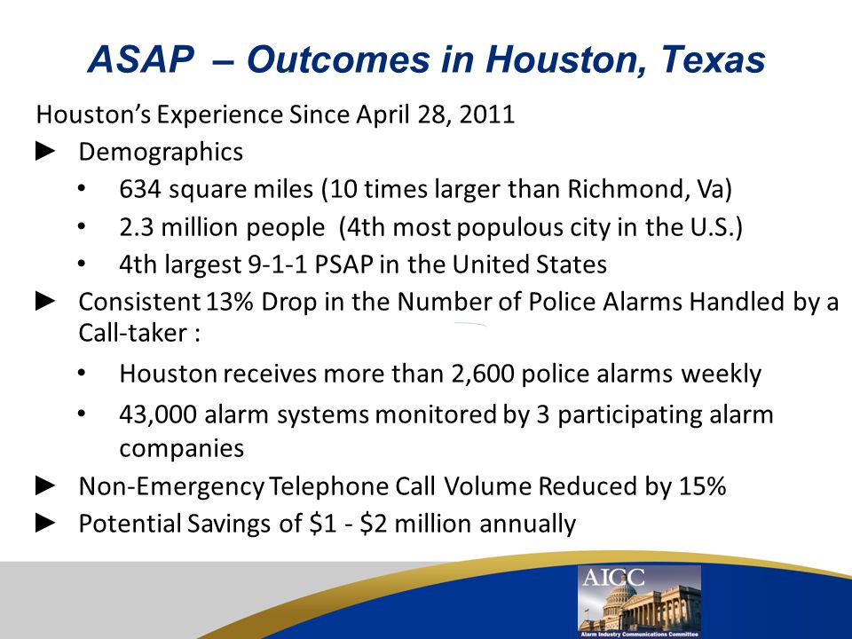 ASAP – Outcomes in Houston, Texas