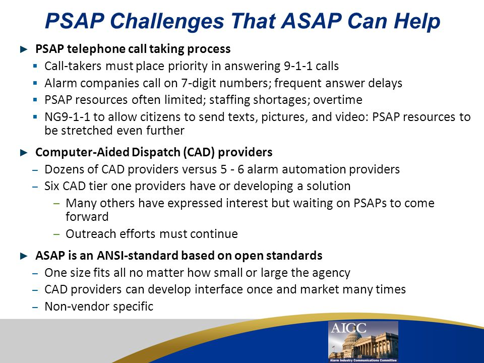 PSAP Challenges That ASAP Can Help