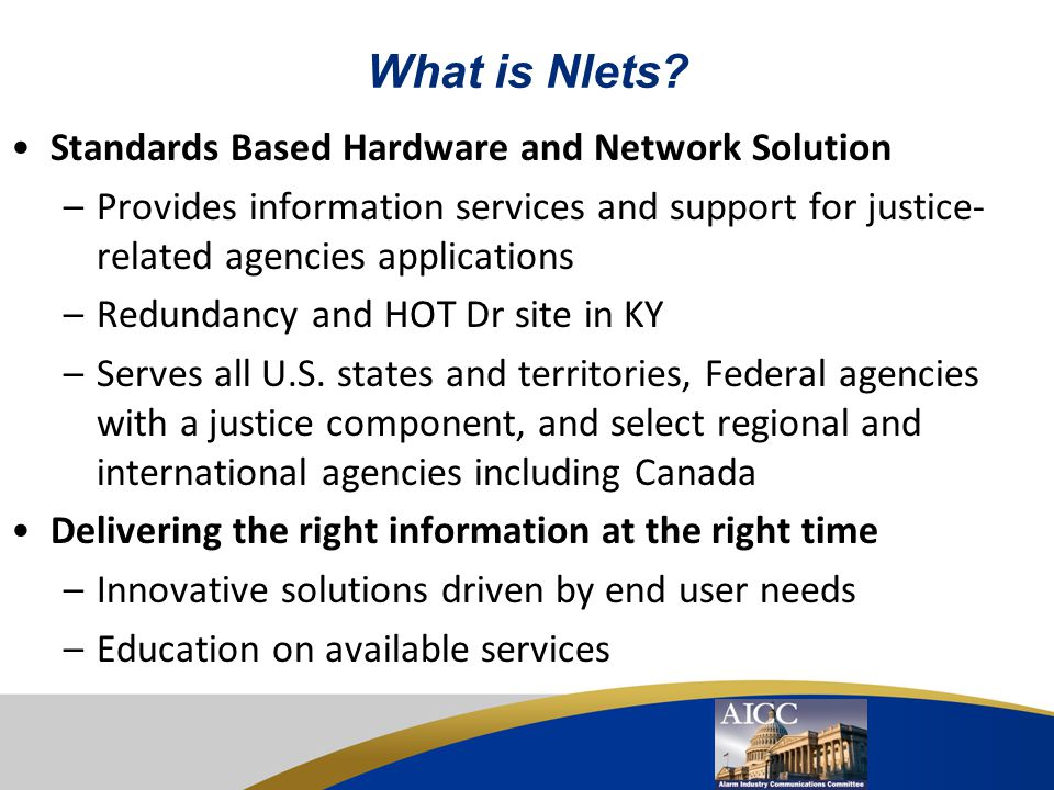 What is Nlets Standards Based Hardware and Network Solution