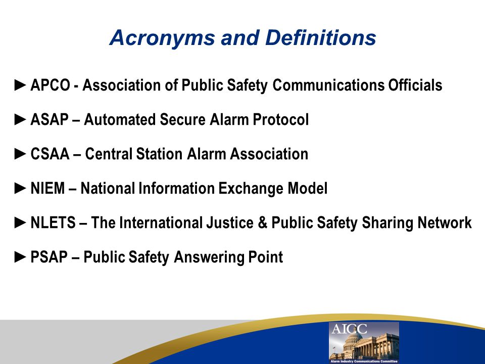 Acronyms and Definitions