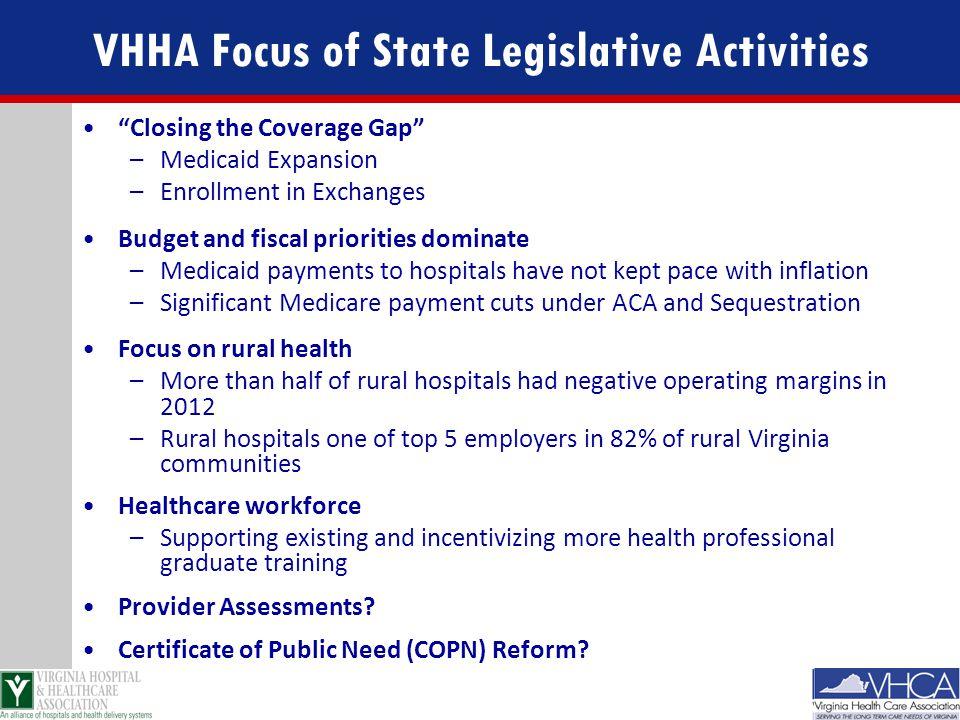 VHHA Focus of State Legislative Activities
