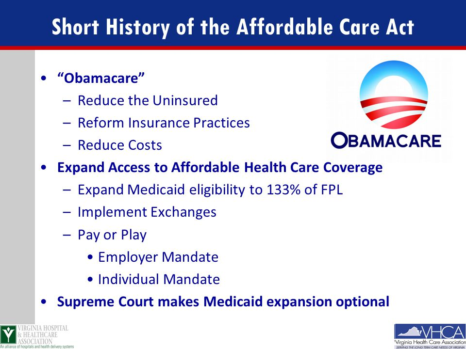 Short History of the Affordable Care Act