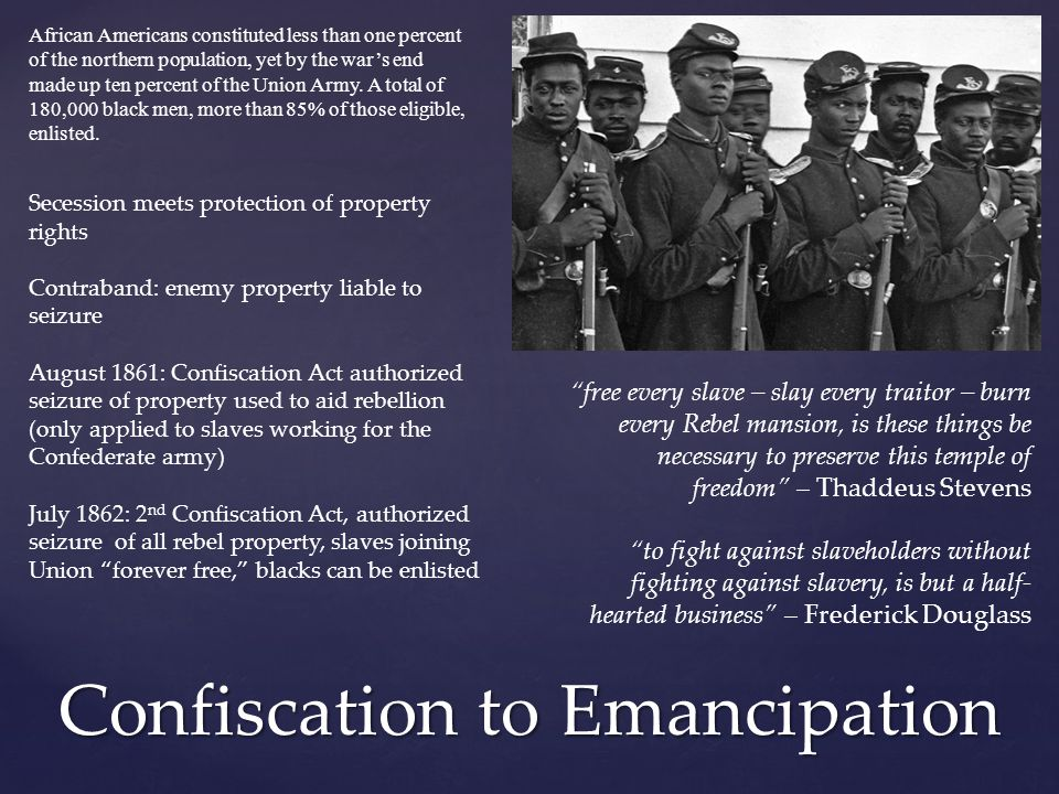 Confiscation to Emancipation