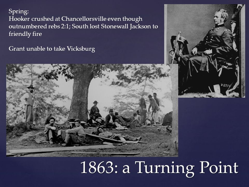 1863: a Turning Point Spring: