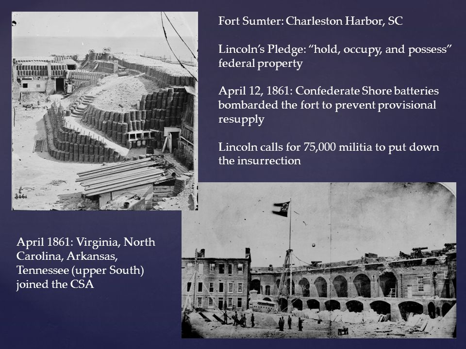 Fort Sumter: Charleston Harbor, SC