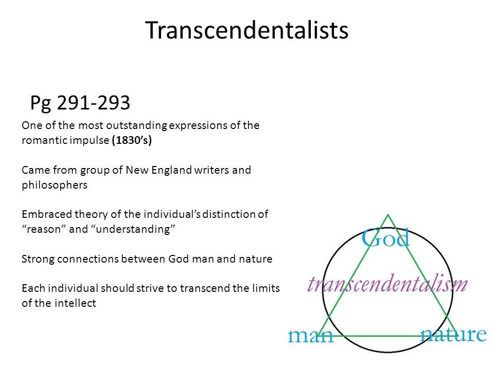 Transcendentalists Pg 291-293
