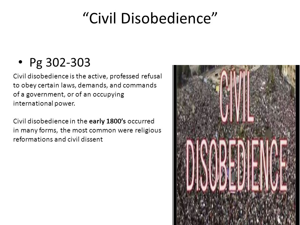 Civil Disobedience Pg 302-303