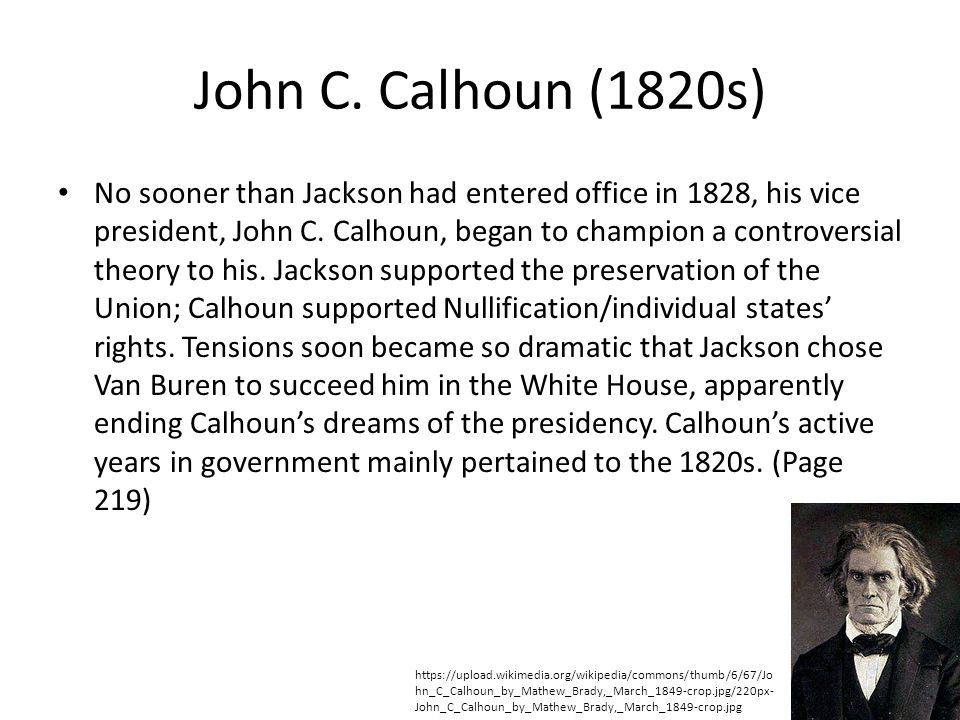 John C. Calhoun (1820s)