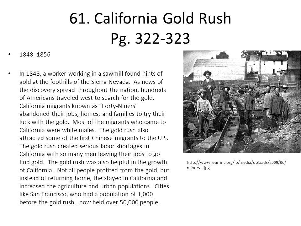 61. California Gold Rush Pg. 322-323