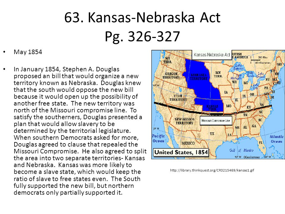 63. Kansas-Nebraska Act Pg. 326-327