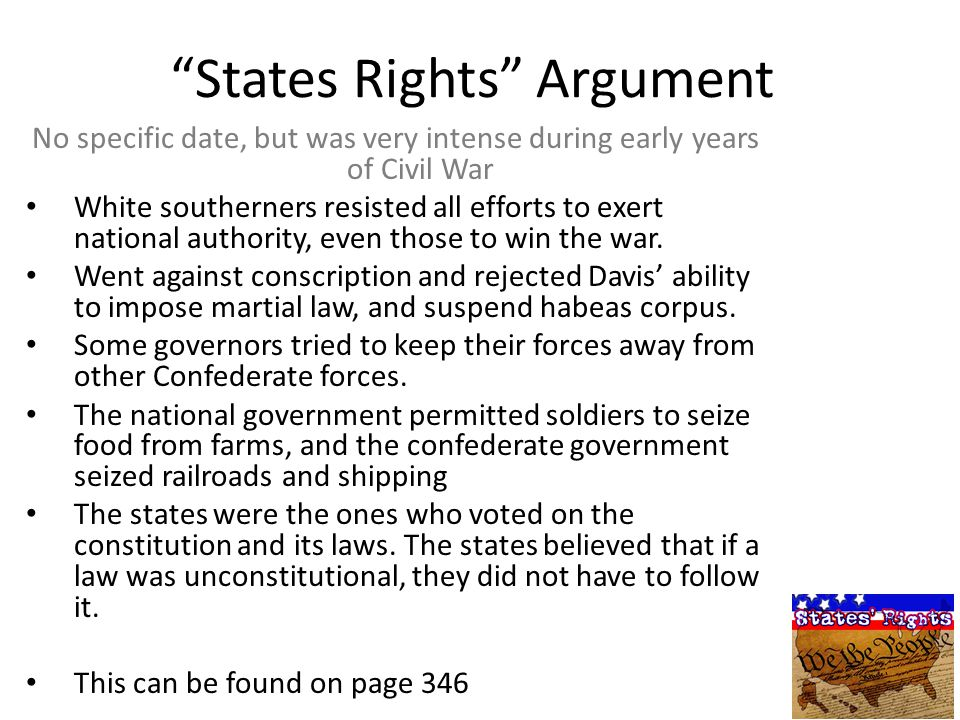 States Rights Argument