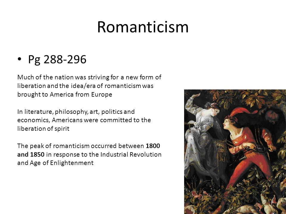 Romanticism Pg 288-296.
