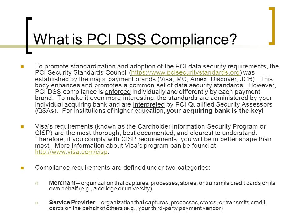 What is PCI DSS Compliance