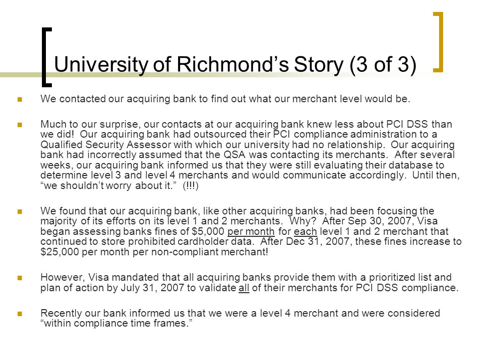 University of Richmond's Story (3 of 3)