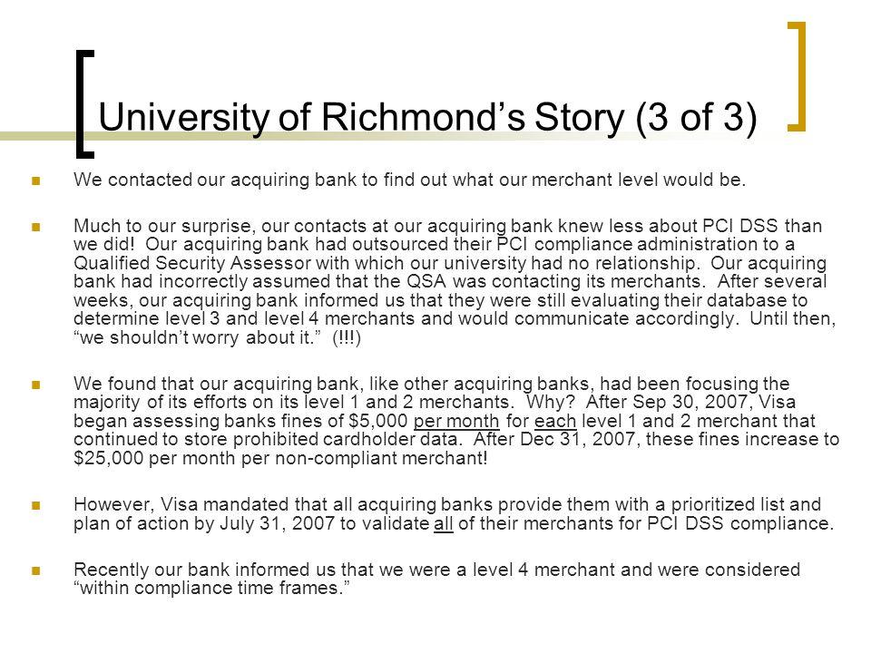 University of Richmond's Story (3 of 3)