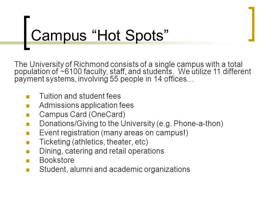 Campus Hot Spots
